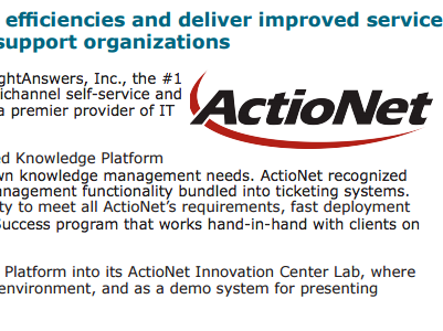 ActioNet Featured in Cloud-based Knowledge Management Success Story