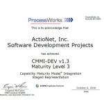 CMMI-DEV® Level 3 Certified since 2003