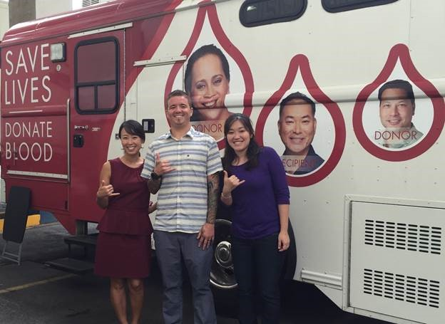 ActioNet Donates blood to blood bank in Hawaii