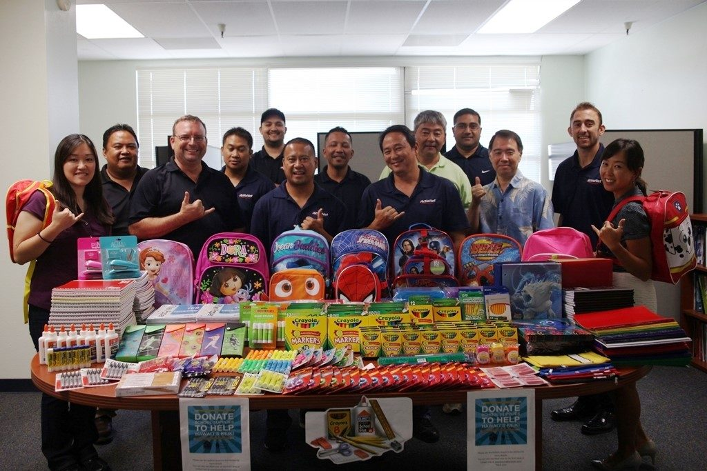 ActioNet Donates School Supplies to Keiki of Hawaii