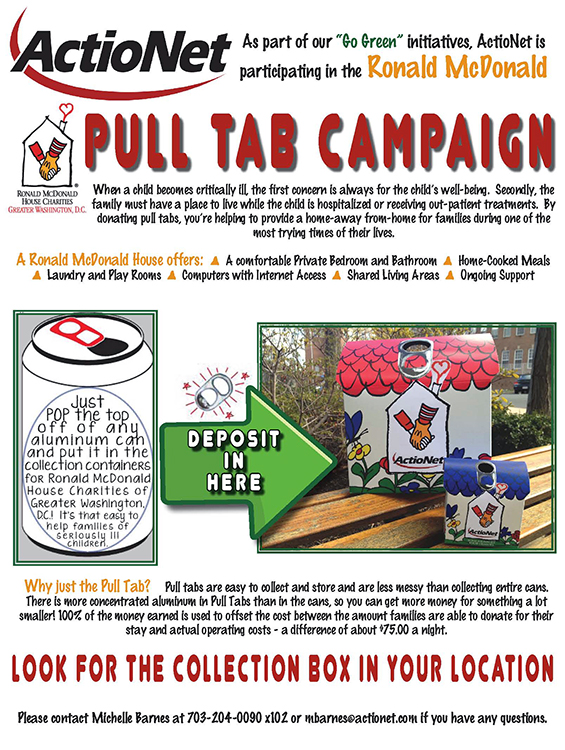 ronald mcdonald pull tab recycling program culture and community