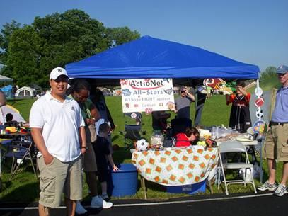ActioNet's Relay For Life booth