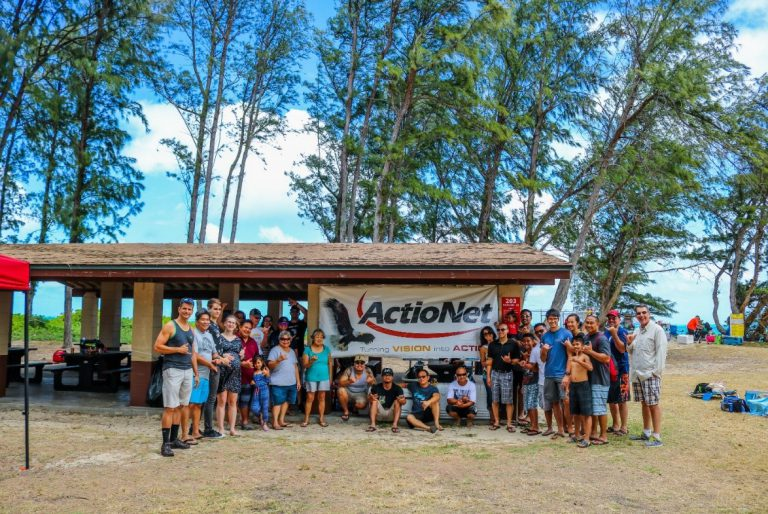 ActioNet Hawaii Partygoers pose together