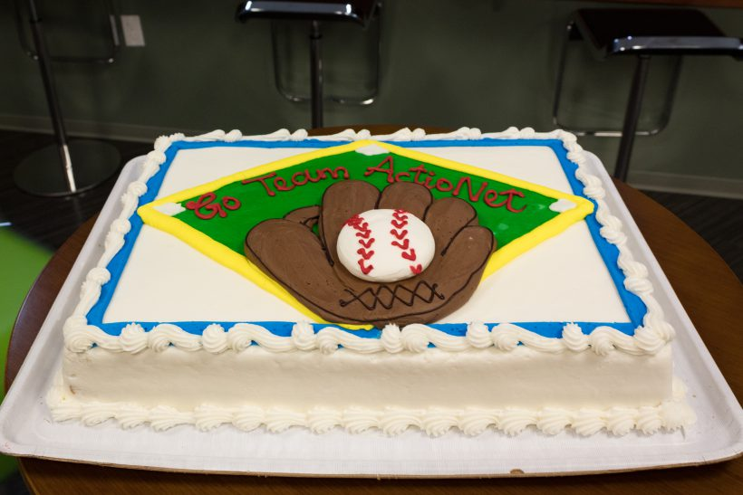 Cakes took on a sports theme for Wear Your Favorite Team Jersey Day