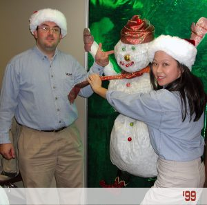 Ashley Chen and Jeff Abish celebrate ActioNet's first holiday
