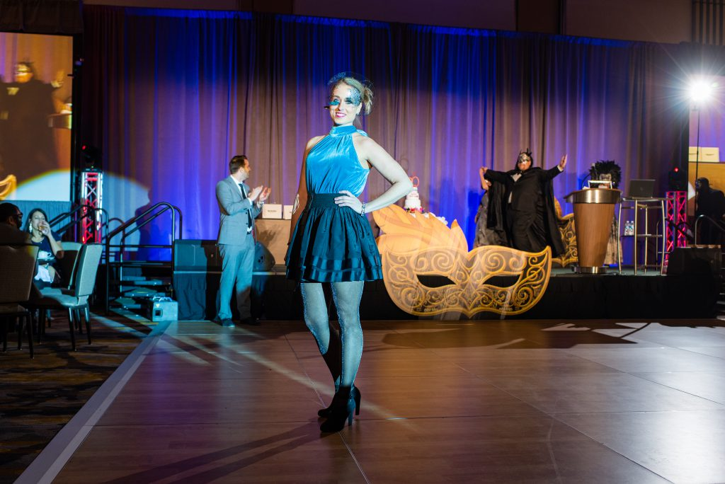 ActioNeter Rachel Competes in Masked Runway Contest