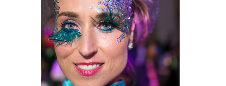 ActioNeter Rachel Decided for Beautiful Makeup at ActioNet Masquerade Ball