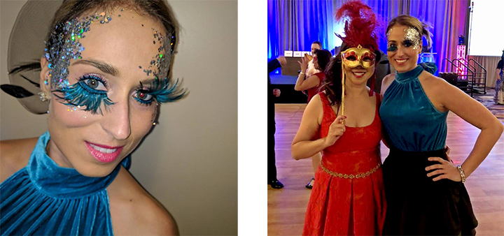 ActioNeter Rachel Gets Recognition for Masquerade Costume at ActioNet Masked Ball Conest