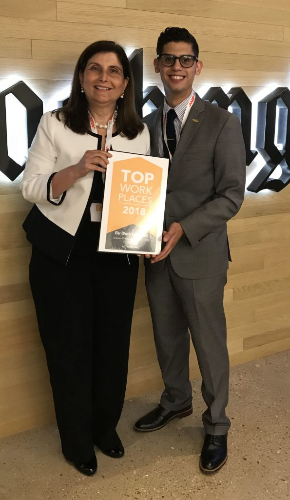 ActioNeters Lina and Jonathan Celebrate Culture at Washington Post Top Workplaces 2018
