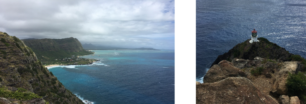 ActioNeters take photos of Hawaii's Overlook of Makapu'u Lookout and Lighthouse