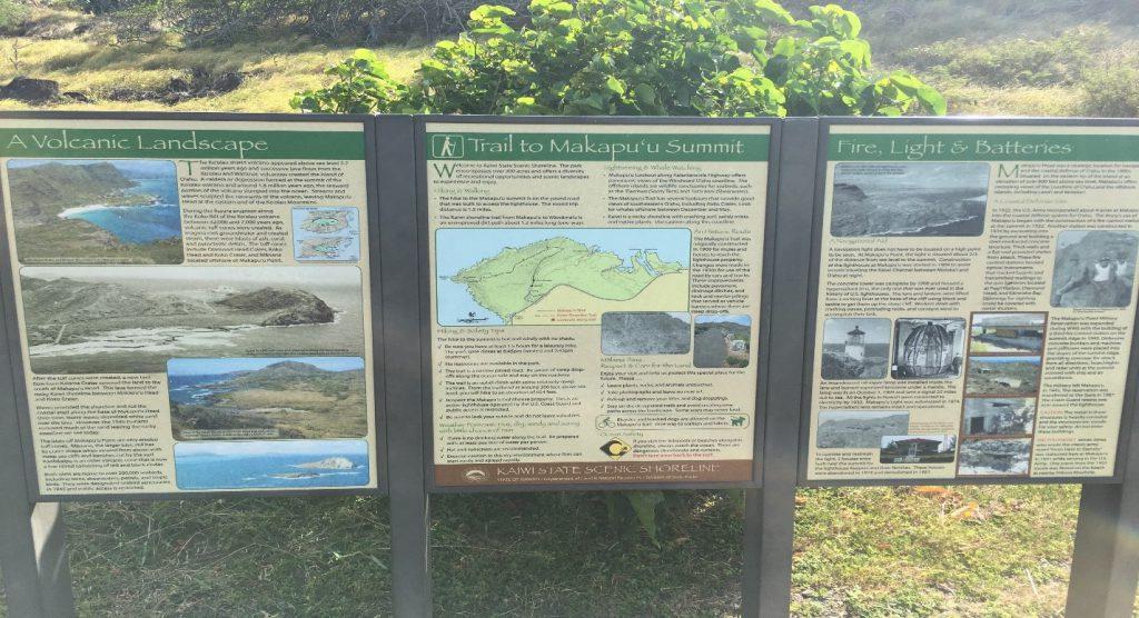 Trailhead for the Makapu'u Lighthouse Trail in Hawaii