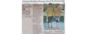 ActioNet Sponsored National Marbles Tournament Players in Newspaper Clipping
