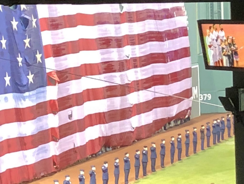 9-11 Remembrance Ceremony at the Red Sox Game