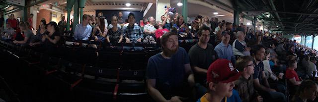 Panoramic Photo of ActioNeters in the Baseball Stadium