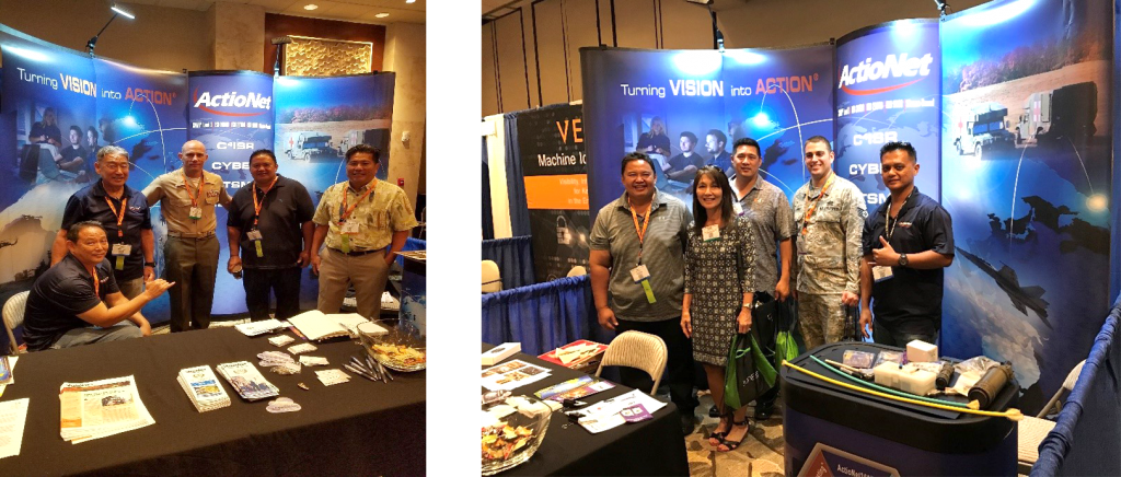 Experienced ActioNeters stood by the booth at TechNet Asia Pacific to talk to users about our services