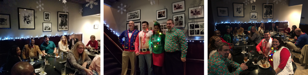 AFDS ActioNeters Take Photos Together in their Ugly Sweaters