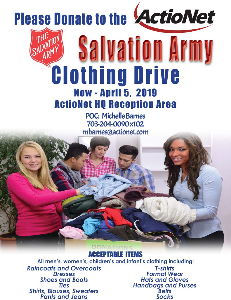 ActioNet 2019 Winter Clothing Drive Flyer, Now through April 5th