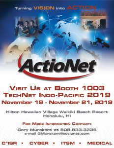 ActioNet Flyer for TechNet Indo-Pacific 2019