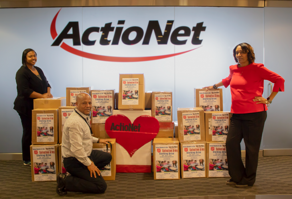 ActioNeters Donate to Salvation Army