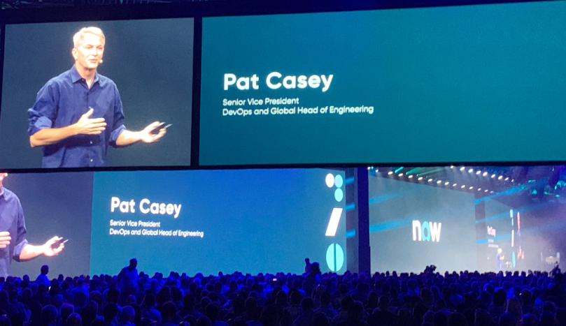 Pat Casey Speaking to Attendees of the ServiceNow Knowledge Conference 2019