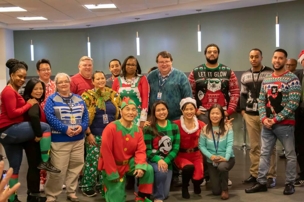ActioNeters at the Ugly Sweater Party