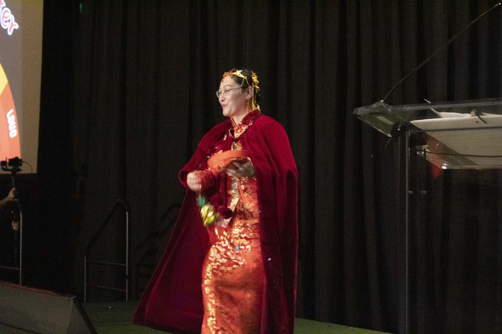 ActioNeter in Traditional Chinese Garb at the ActioNet Winter Party