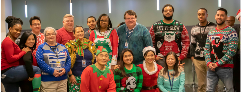 Ugly Sweater Contestant Celebrated the Holidays Together at ActioNet