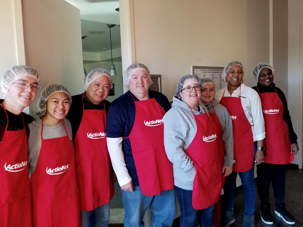ActioNeters Participated in a Food and Friends Event to Feed the Needy
