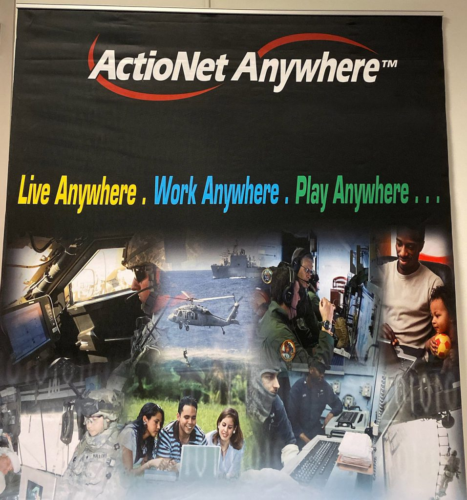 The ActioNet Career Fair Booth