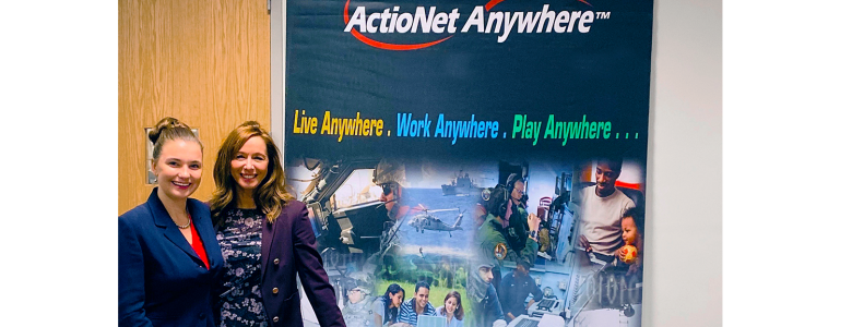 ActioNet recruiters at the GMU Career fair