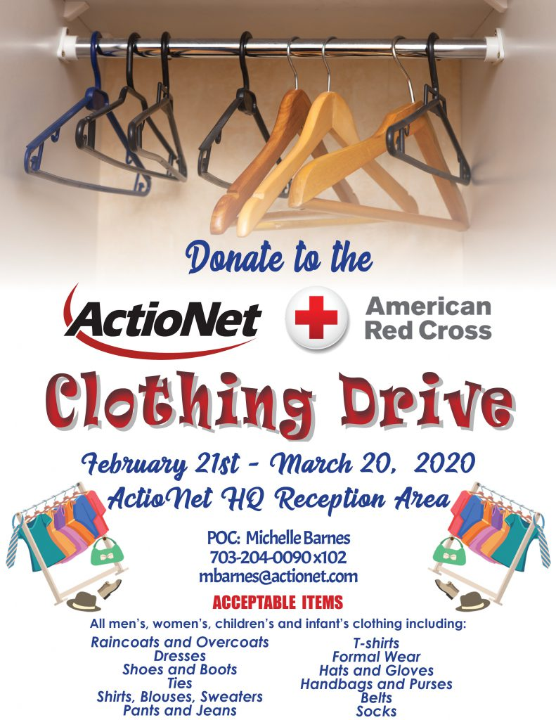 ActioNet 2020 Clothing Drive for the American Red Cross