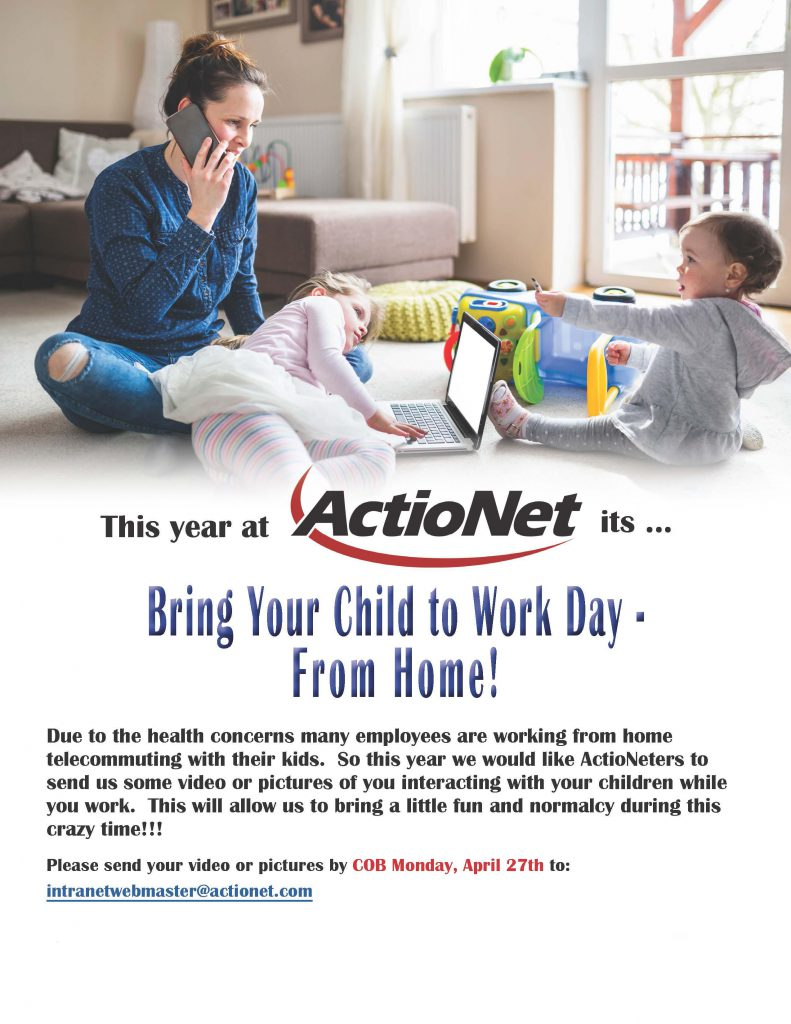 Bring your child to work day flyer