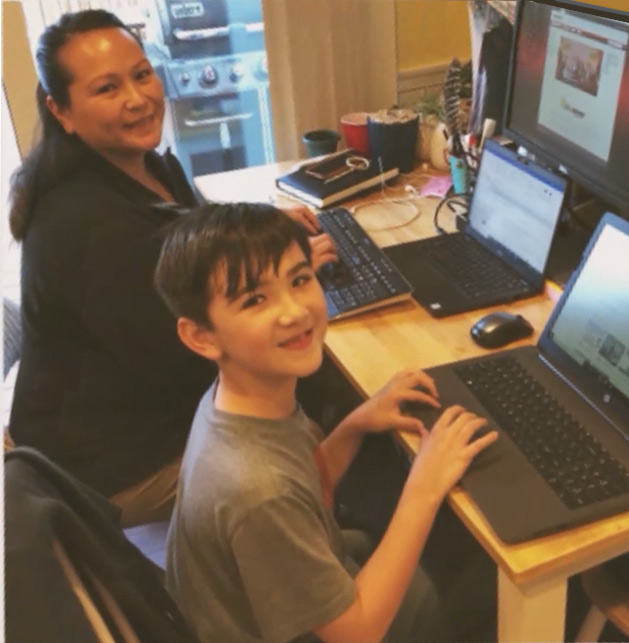 ActioNeter Maricar Brings her Son to Work