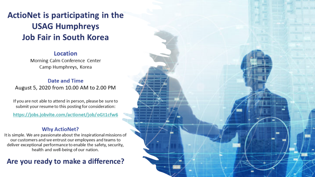 2020 Korea Job Fair Flyer