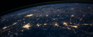 Network of lights across the globe