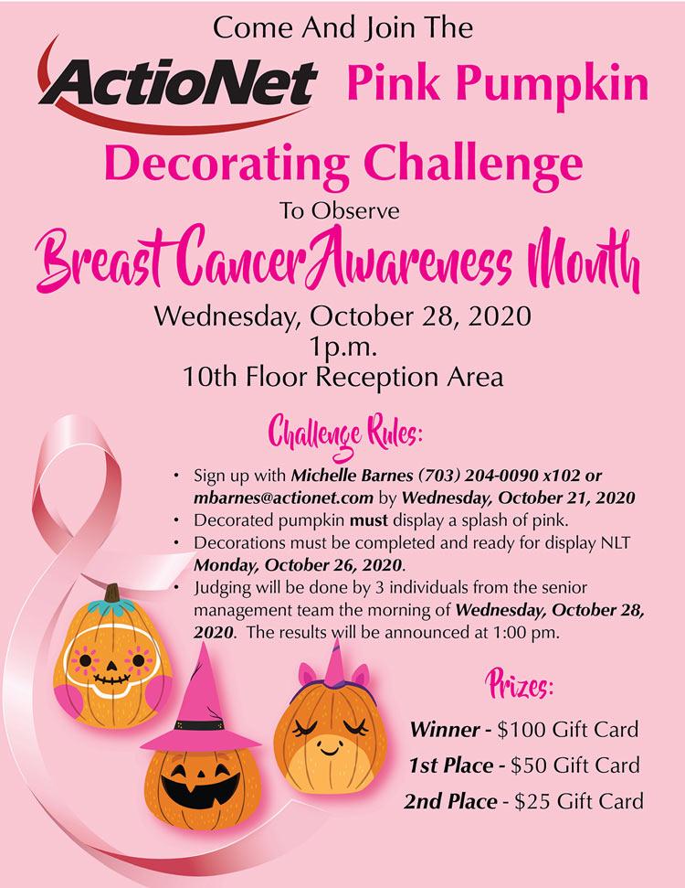 Breast Cancer Pink Pumpkin Flyer