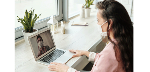 Recruiter holds a virtual interview during COVID