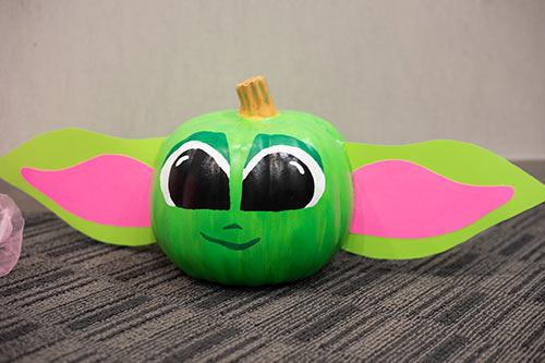 Baby Yoda Pumpkin