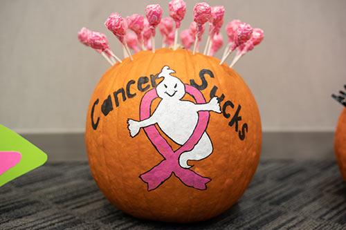 Cancer sucks halloween pumpkin