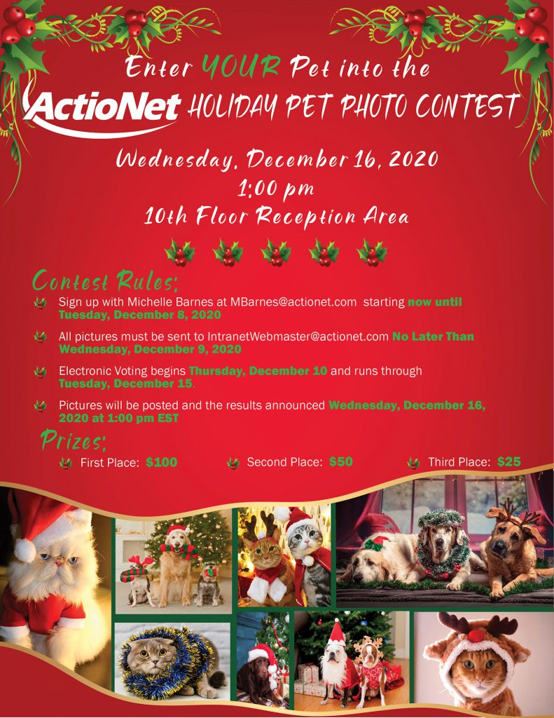 Holiday Pet Photo Contest Flyer