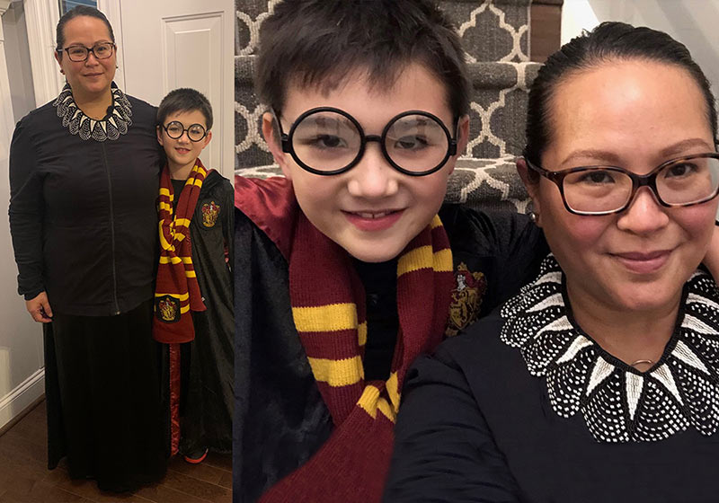 Ruther Bader Ginsburg and Harry Potter Halloween Costumes