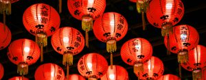 Red lanterns in Singapore