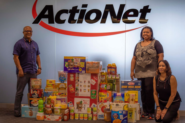 Charity Organizers show off Food Donation
