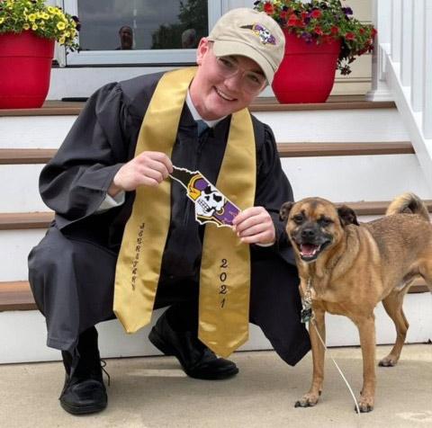 High School Graduate Jacob Moves onto College at East Carolina University