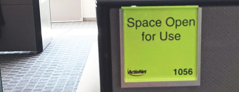 Space Open Green Sign