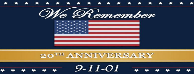 Image of USA flag with text We Remember